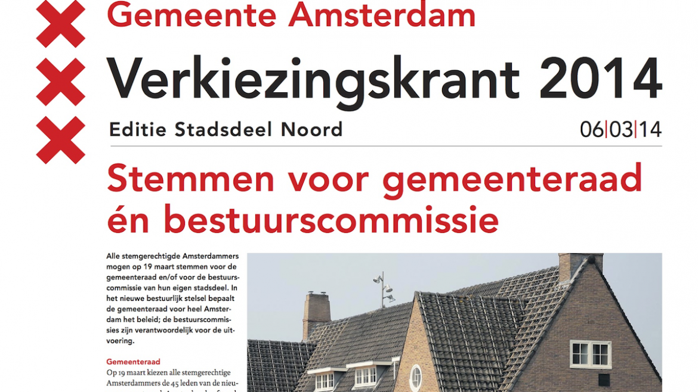 Gemeente Amsterdam Verkiezingskrant