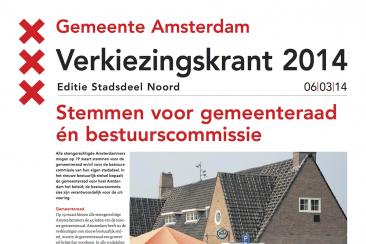 Verkiezingskrant gemeente Amsterdam, Movement