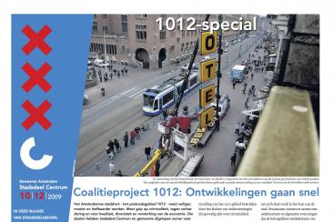 Krant over 1012-gebied, stadsdeel Centrum