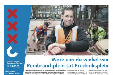 Krant over Rembrandtplein, stadsdeel Centrum