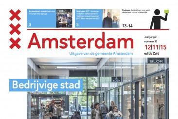 Artikel Masterplan Techniek Amsterdam, gemeentekrant (Zuid)
