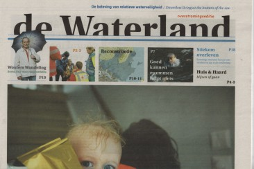 Interviews en eindredactie De Waterland, over de fictieve watersnoodramp van 2016