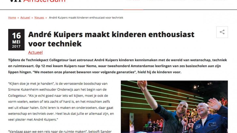Andre Kuipers gemeente Amsterdam