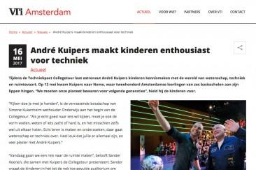 Verslag Techniekpact Collegetour André Kuipers, gemeente Amsterdam