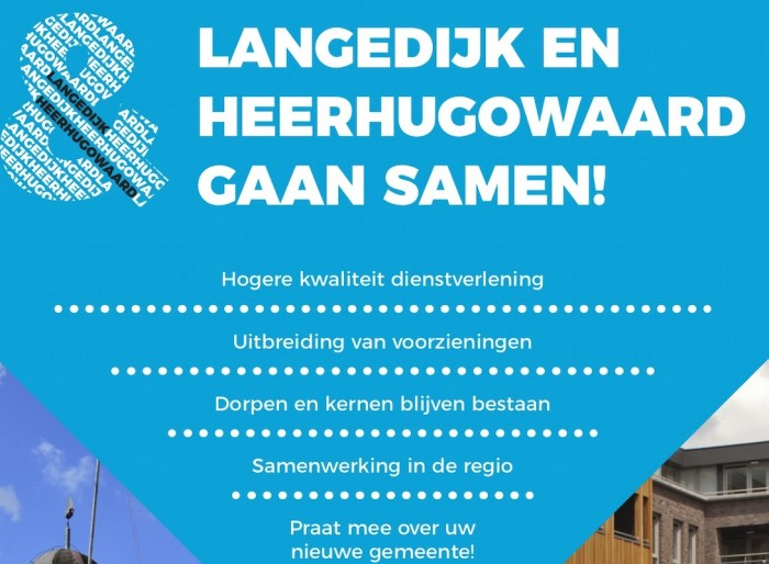 Brochure fusie Langedijk Heerhugowaard, Bureau Bührs